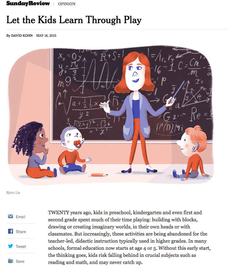 Let the Kids Learn Through Play - NYT