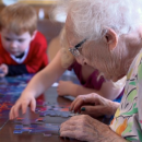 """Poignant moments unfold at a preschool in a retirement home,"" by Daphne Sashin"