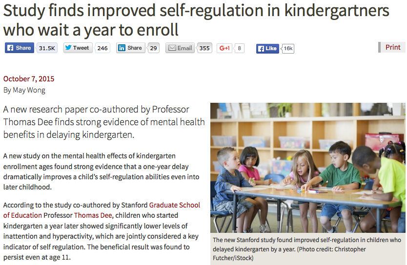 Stanford Graduate School of Education article