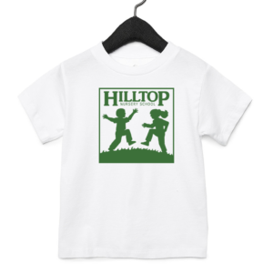 Hilltop youth shirt in white